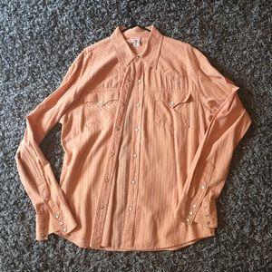 True Religion Men light orange Shirt size xxxl